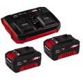 Einhell 2x3,0 Ah & Twincharger Kit   Akku+töltő szett   Ár: 46.200.-